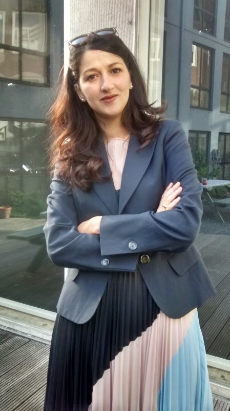Zineb El Rhazoui in Amsterdam, 2015, photo taken by Jean Rafferty